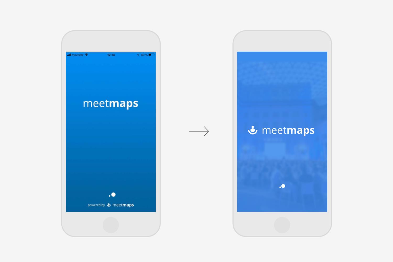 Meetmaps restyling diseño app