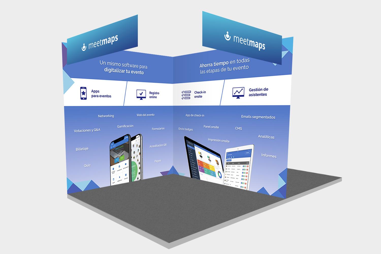 Meetmaps diseño stand feria