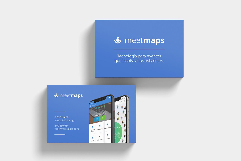 Meetmaps diseño tarjetas de visita