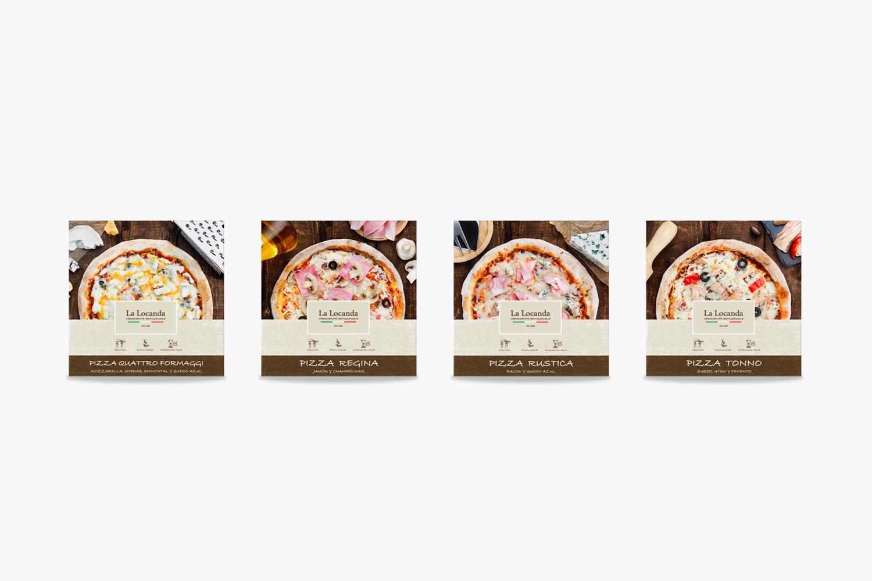 La Locanda Packaging pizzas