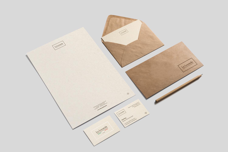 La Locanda branding papelería
