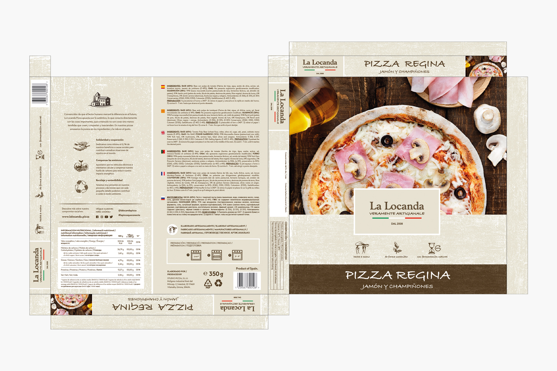 La Locanda Packaging pizza congelada