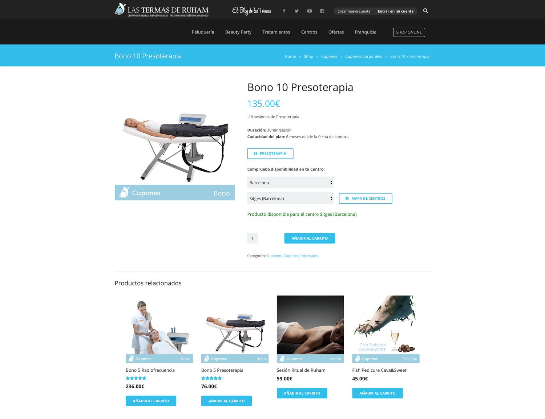 Las Termas de Ruham Shop Online