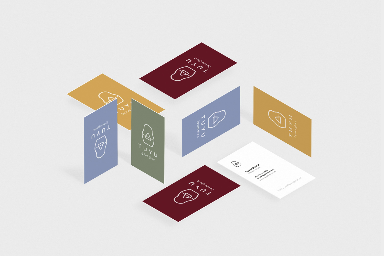 diseño branding tarjetas visita tuyu